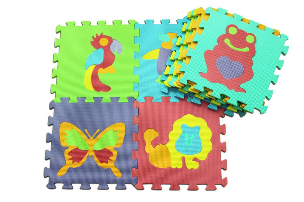 10pcsset 3030cm Puzzle Carpet Baby Play Mat Floor Puzzle Mat Eva