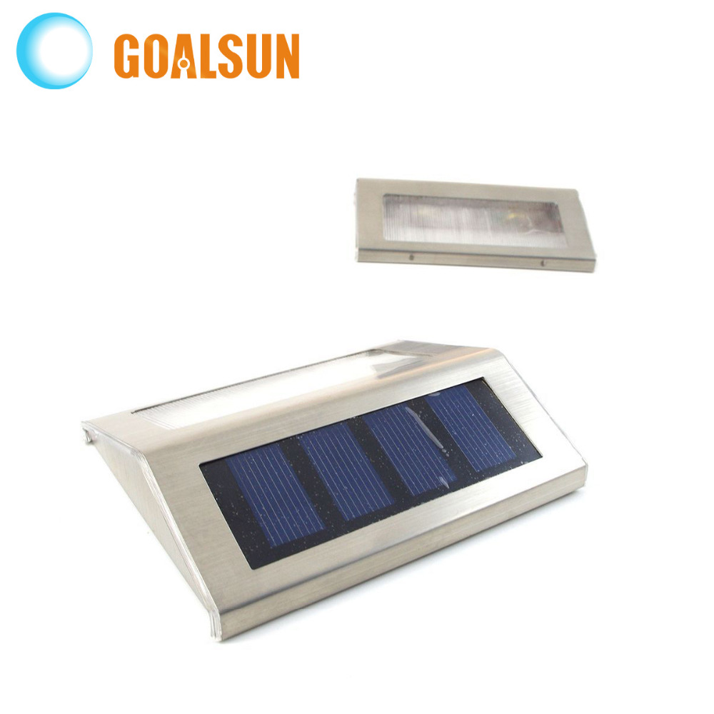Buy Stainless Steel Wall Mouted Light Stair Led Solar Lamp W
