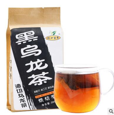 200g Black and oolong tea Premium quality goods Oolong tea export Japan original tea bag 198#(China (Mainland))