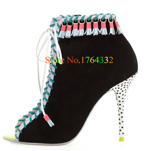 Suede Leather Cut Outs 2015 New High Heels Gladiator Women Sandals Botas Wedding Shoes Sophia Woman Big Size Summer