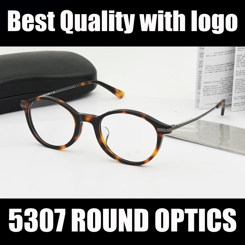 Brand New Round Women Eyeglasses Frame 5307 Black Tortoise Opitcal Prescription eye Glasses Frames Fashion eyewear with case