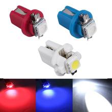 2pc/lot B8.5d b8.5 509T 5050 Led 1 SMD T5 Lamp Car Gauge Speedo Dash Bulb Dashboard instrument Light 12v blue red blue white red