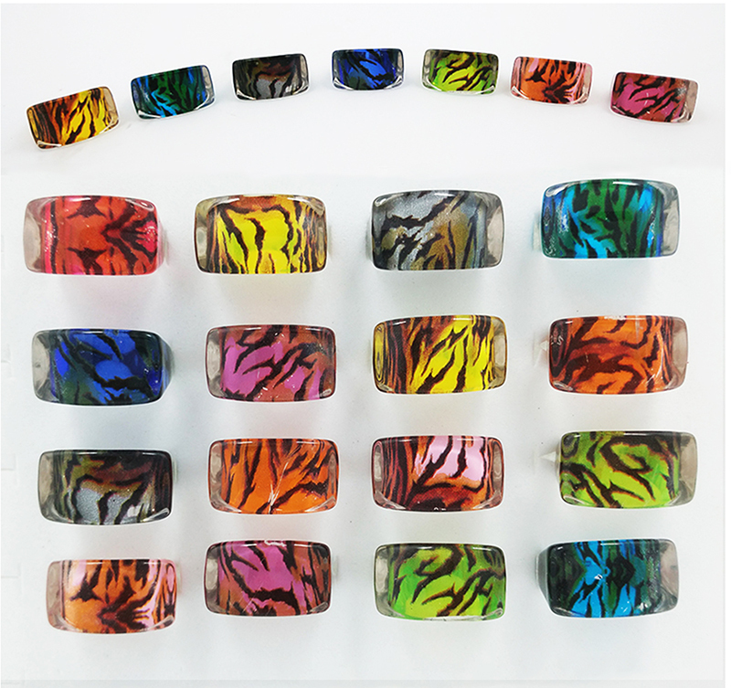 20pcs Leopard Lucite Resin Kids Children Rings Jewelry Shop Wholesale Lots Free Shipping(China (Mainland))