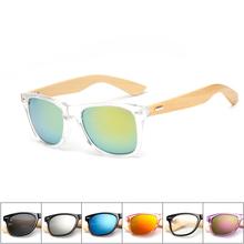 16 cor de madeira de bambu homens mulheres marca Designer de óculos de sol óculos de sol masculino 2016 artesanal de madeira