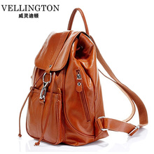 New arrival genuine leather backpack  women bags fashion cow leather backpack women shoulder bag casual preppy style travel bag(China (Mainland))