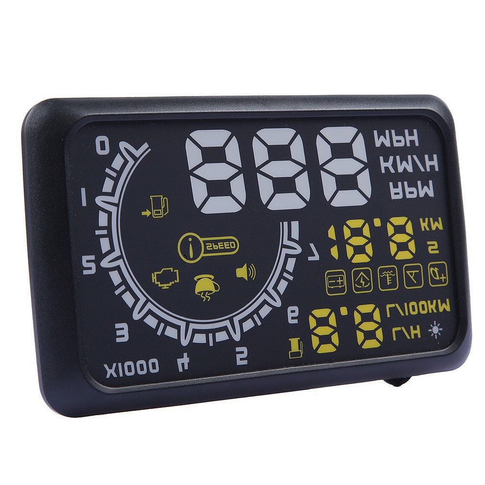 Car HUD Projector Head Up Display OBD II HUD car styling 5.5 Inch Comprehensive Display car alarm system car detector New