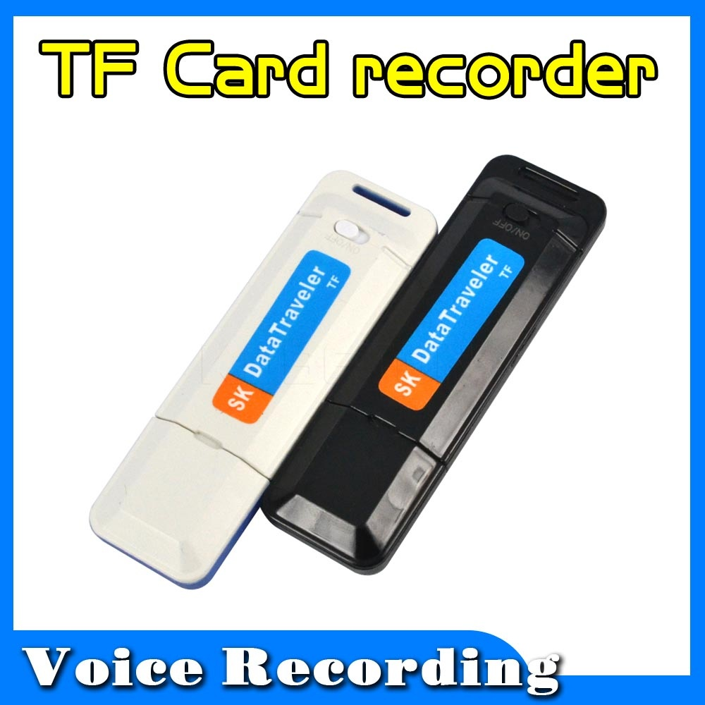 High Quality Mini Portable U-Disk Digital USB Voice Recorder Audio Dictaphone Pen Flash Drive Need TF Card Supports Up To 32G(China (Mainland))