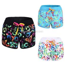 Hot Sale Women Surf Board Shorts Swimwears Swim Wears for Girl Quick Dry Polyester Floral Printed Pattern Size S/M/L ZH489(China (Mainland))
