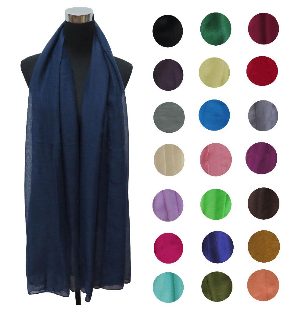 Plain Solid Color Women's Oversize Maxi Scarf Shawl Muslim Hijab Head Wrap, Free Shipping(China (Mainland))
