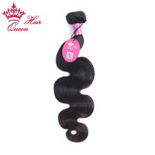 Queen Hair Products Brazilian Virgin Hair Body Wave Hair Extensions 1pcs lot 12″ to 28″ Brazilian Human Hair DHL Shipping