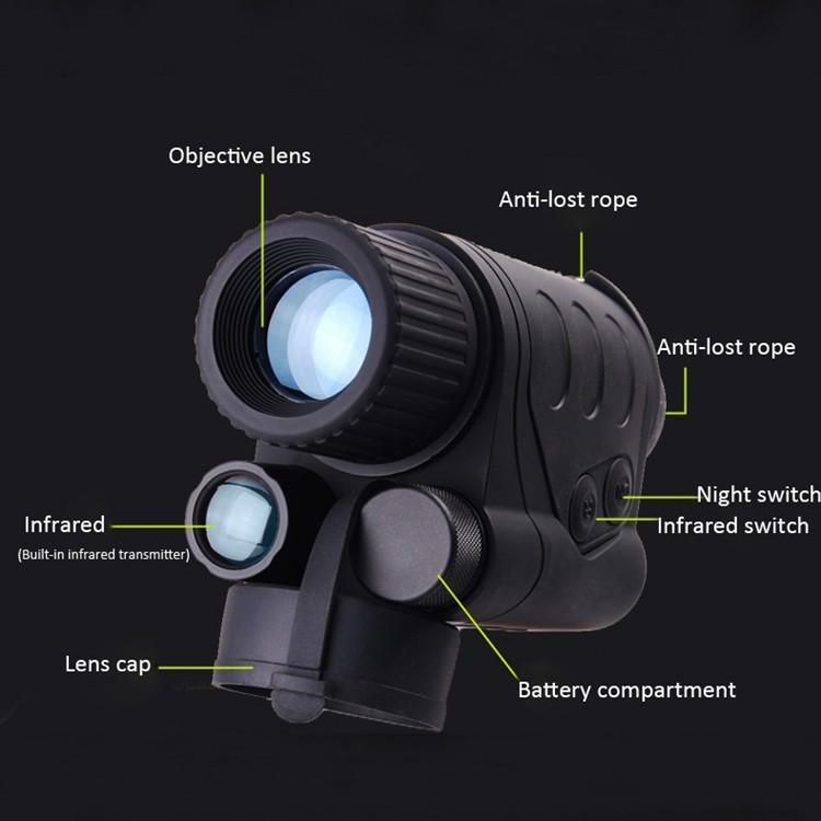 Free Shipping! Gen1 1X24/3X44 Infrared night vision monocular IR Goggles Monocular+Hand Free Head Mount Kit #NV550