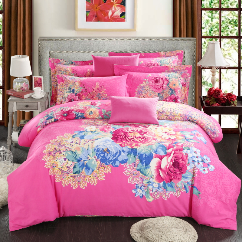 Hot pink king sheets promotion shop for promotional hot for Hot pink bedroom set