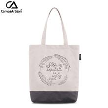Canvasartisan women's tote shoulder bag waterproof stylish printed female handbag shopping travel daily book storage bags(China (Mainland))