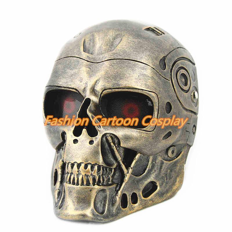 New High Quality Movie Terminator Genisys Skull Mask Resin Mask Halloween Cosplay Masquerade Resin Mask Free Shipping(China (Mainland))