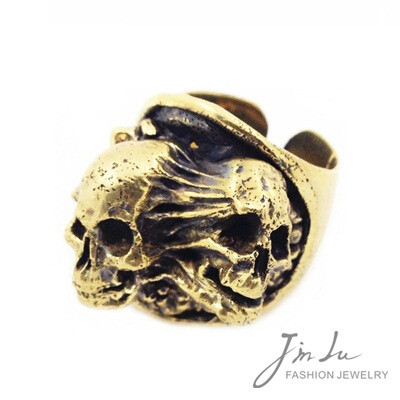 unique awesome vintage jewelry skull fancy design