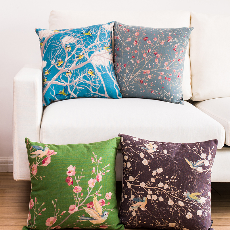 Free shipping throw pillow wedding decor linen fabric gift Hot sale 100% new 45cm American Country sofa cotton cushion cover