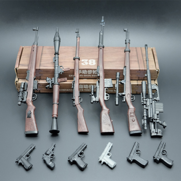 Latest 6 Pcs/ 1:6 Soldier's Rifle Assembly Model 38 Type Rifle 98K Semi-automatic Rifle Plastic Toy Gun Model(China (Mainland))