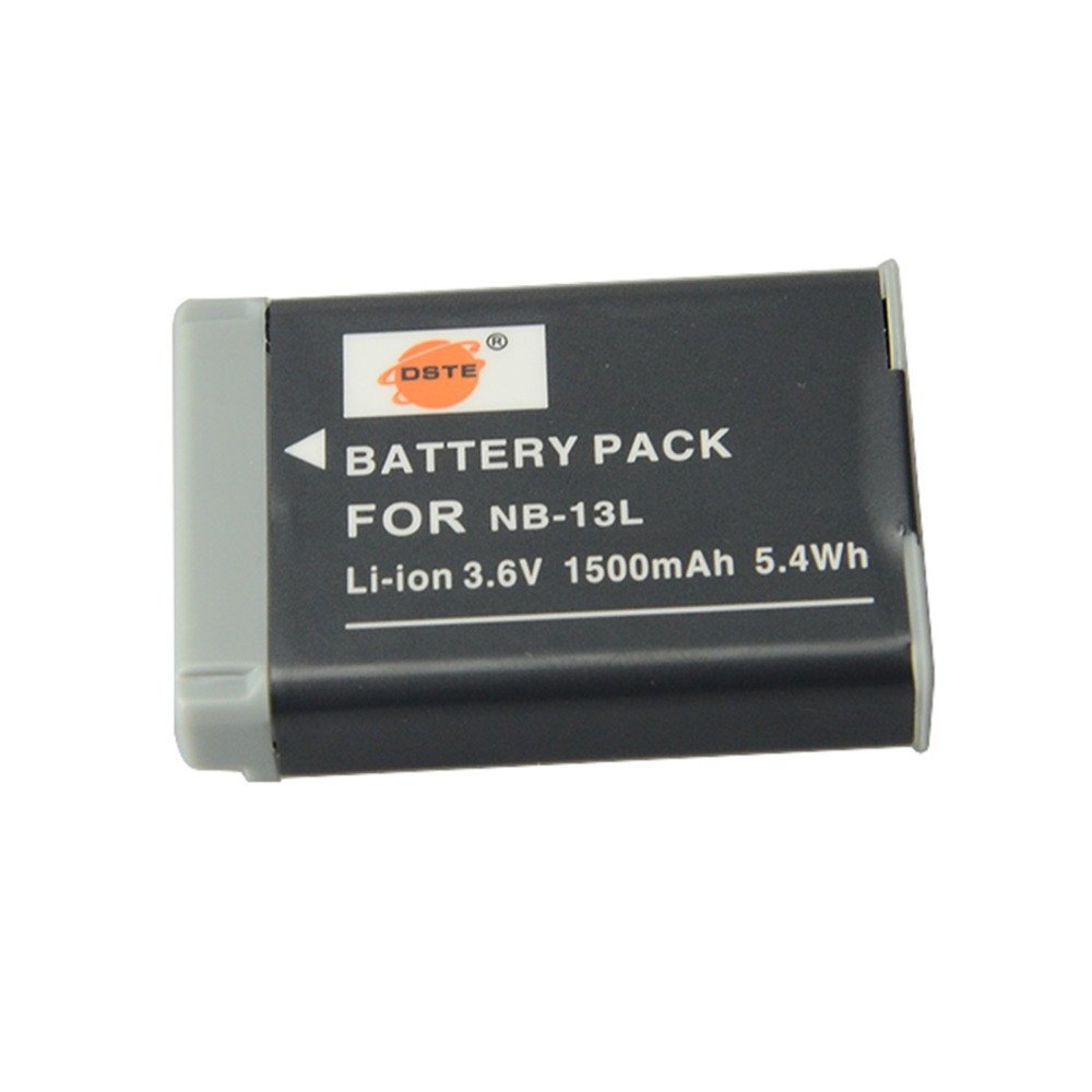 DSTE NB 13L Rechargeable Li on Battery For Canon G7X Camera New