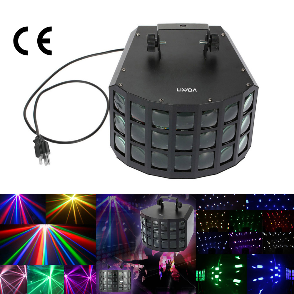 LIXADA RGBW Color Changing 90W 2LED DMX512 Stage Light Effect Sound Activated Auto Running Beam Lamp for Disco KTV Club Party(China (Mainland))