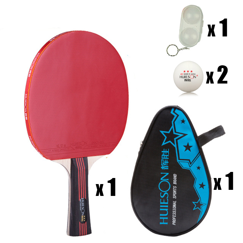 Quality 3 stars Table Tennis Racket Ping Pong Paddle long Handle with 1 racket bag+2 balls +1 ball case(China (Mainland))
