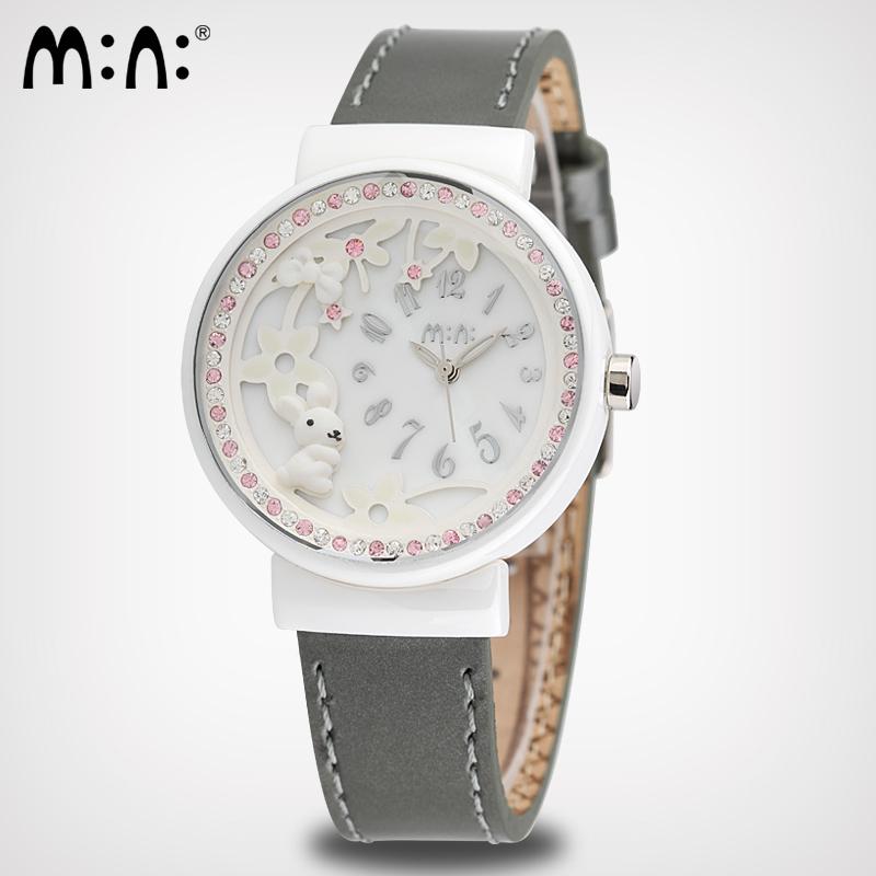 M N Korea MiNi watch fashion watch with Swarovski rhinestones stainless steel material watch MN997