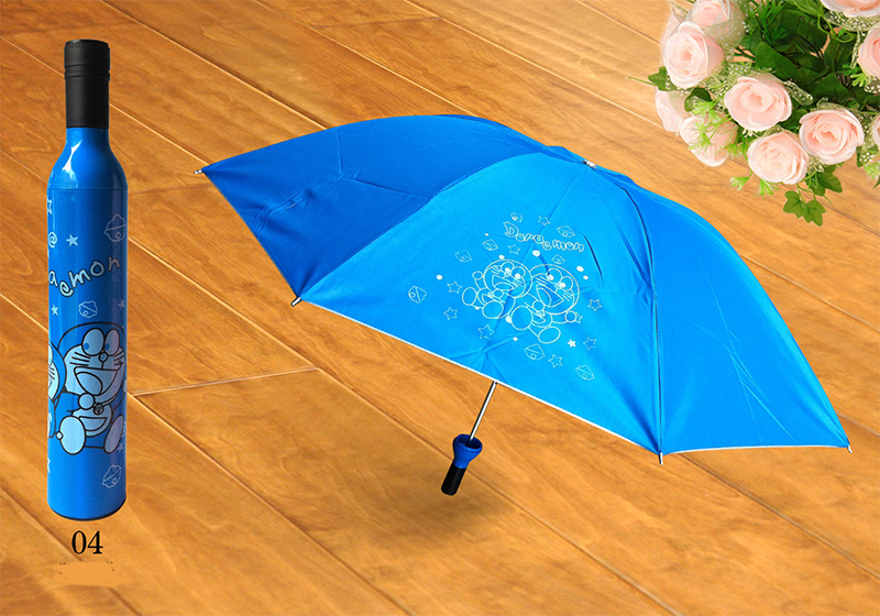 Creative red wine bottle Sunny and Rainy Umbrella home Rain Gear collapsible umbrella for Adults men women(China (Mainland))