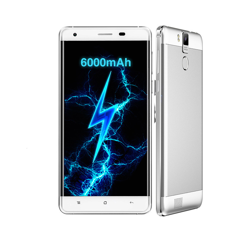 5.5 Inch Oukitel K6000 Pro Cellphone 3GB 32GB Octa Core 6000mAh 4G Mobile Phone Smartphon Android 6.0 MTK6753 Fingerprint 16.0MP