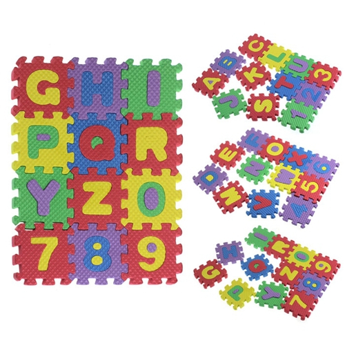 2015 Free Shipping! 36PCS Baby Child Wonderful Puzzle Split Joint Number Alphabet Puzzles Mat Letters Educational Toys Gift(China (Mainland))