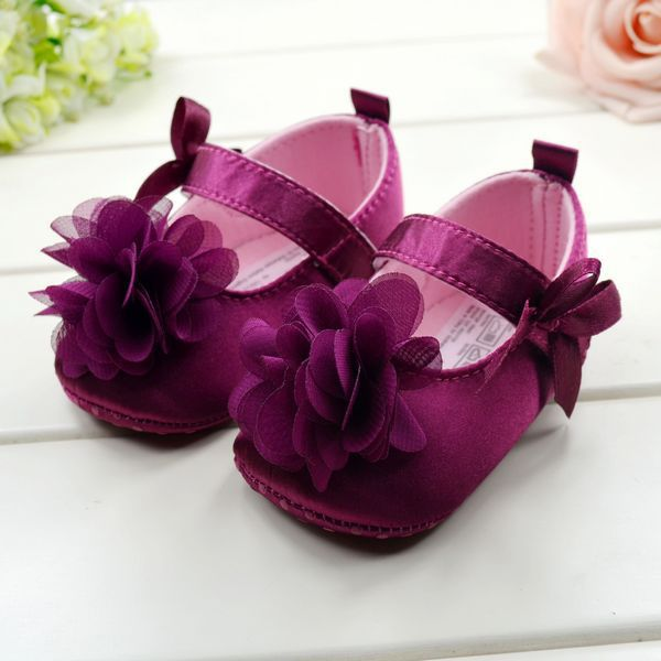 Infant Baby Girl Flower Bowknot Shoes Kid Child Cotton Prewalking Toddler Shoes