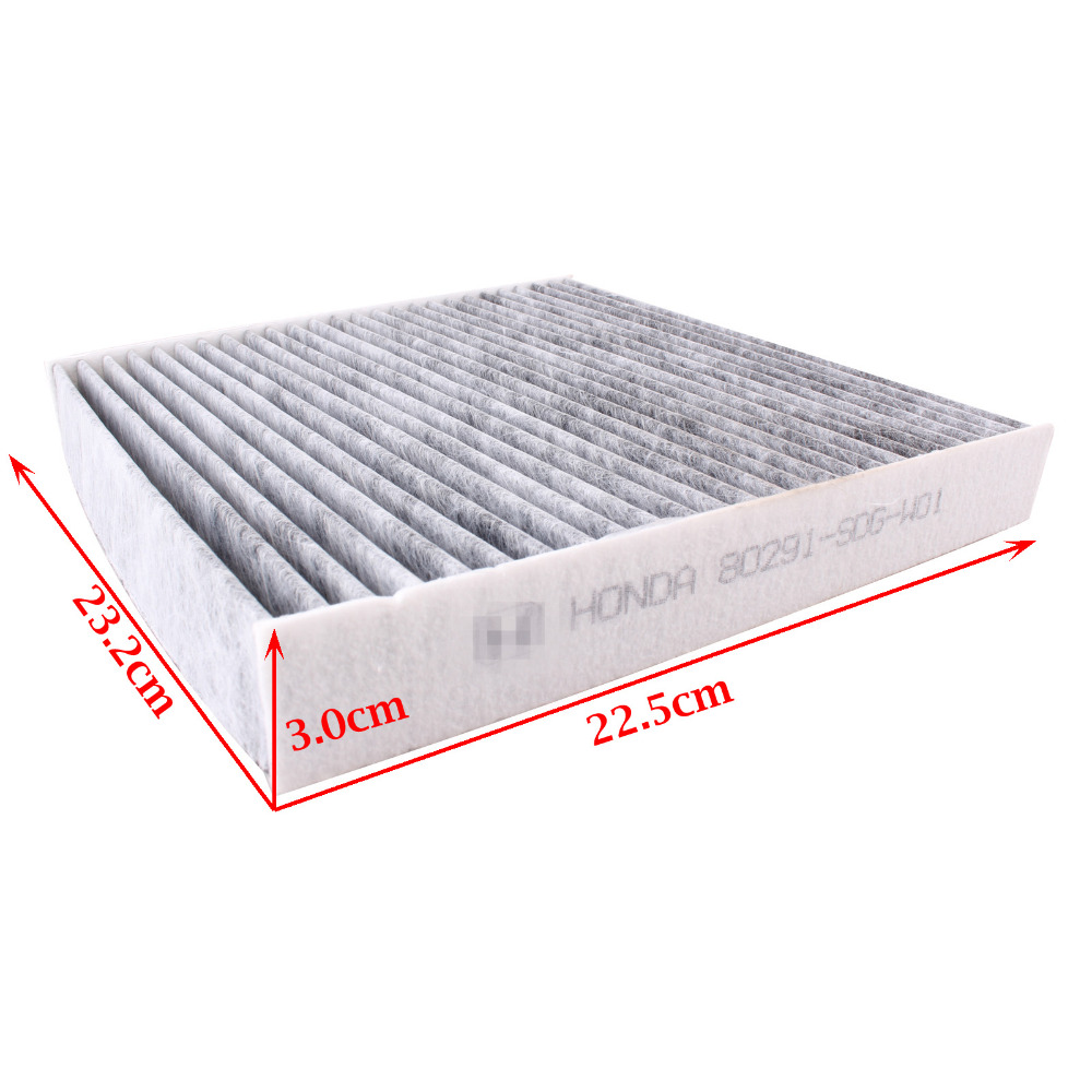 CF35519C Carbon Cabin Air Filter For Honda Acura Accord Pilot TSX Civic CRV Odyssey MDX 2003- 2011 80292-SHJ-A41/ 80291-SDG-W01(China (Mainland))