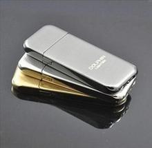 high quality men ultrathin metal cigarette lighter flame refillable cigar butane gas   lighter for smoking novelty gadgets