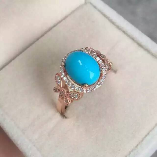 Fashion personality elegant bowknot natural turquoise rings 925 sterling silver natural gem stone ring women party fine jewelry<br><br>Aliexpress