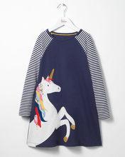 Новейшее платье для маленьких девочек с изображением животных, платья принцессы с длинными рукавами, Детская осенняя одежда для детей(China)