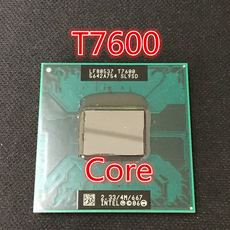 Free Shipping for intel CPU laptop Core 2 Duo T7600 CPU 4M Socket 479 Cache/2.33GHz/667 Dual-Core Laptop processor support 945(China (Mainland))