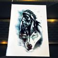 1PC Moose Horn Tattoo Stickers For Christmas Gifts PAQ-056 Children Waterproof Tattoo Paste Deer Antler Elk Reindeer Tatoo 2016