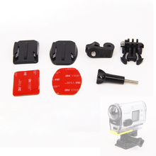 For Sony action cam AS15 AS30 AS100V Rollei Basic Accessories Flat Curved Adhesive Tripod Mount Buckle