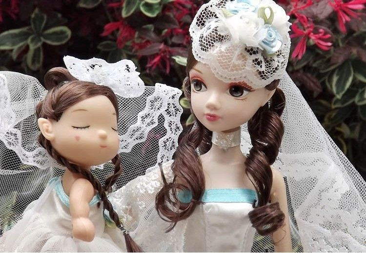 D0616 In box Best children girl gift 30cm Kurhn Chinese Doll Chinese Gift Traditional toy happy time wedding princess 2pcs(China (Mainland))