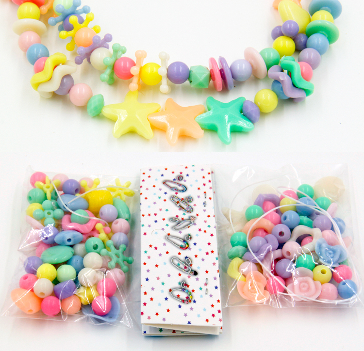 2 Packs Chunky Beads Set Kids DIY Jewelry Necklace Children Educational Toys Party Favor Crafts Birthday Activity Goodie bag(China (Mainland))