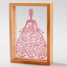 Handmade vintage home decor Paper laser cut picture wood photo table frames for picture Shadow Boxes cultural theme(China (Mainland))