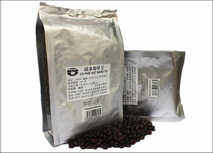 500g High quality Original Vietnam Vina Coffee Beans Baking charcoal roasted coffee