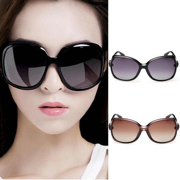 2015 New Women Vintage Polarized Hinges Arm Large Frame Eyewear Sunglasses Eyeglasses(China (Mainland))