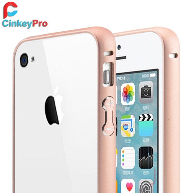 CinkeyPro Ultra Slim Metal Aluminum Bumper Cases Mobile Phone Accessories Protective For Apple iPhone 4 4S 4G Cases(China (Mainland))