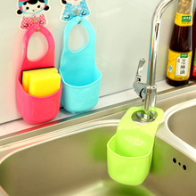 Hot Creative Kitchen Sink Bathroom Hanging Strainer Organizer Storage Sponge Holder Bag Tool #71178(China (Mainland))