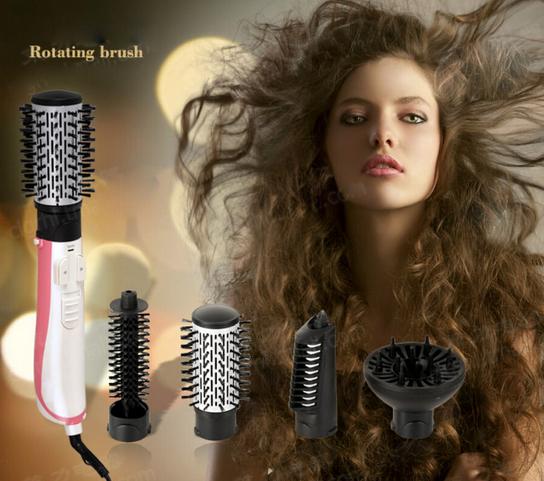 CHJ Multifunctional Hair dryer Automatic Rotating Hair Brush Ionic Hair Styler Ceramic Hot Air Styling tools 220V EU plug(China (Mainland))
