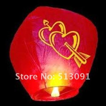 Free shipping 30pcs/lot different colors Chinese Sky Lanterns,Paper lanterns for Birthday wedding party,Valentine's Day