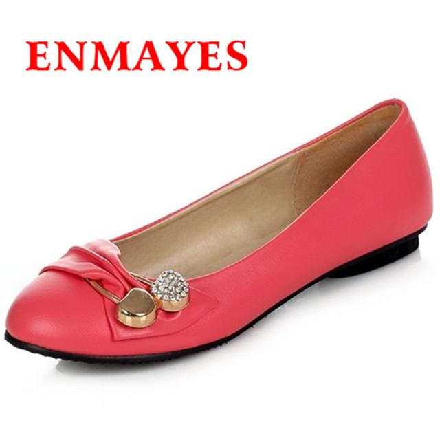 EnmaДа новинка женщины большой размер 34 - 47 белые туфли 4 цветов женщина весной ...