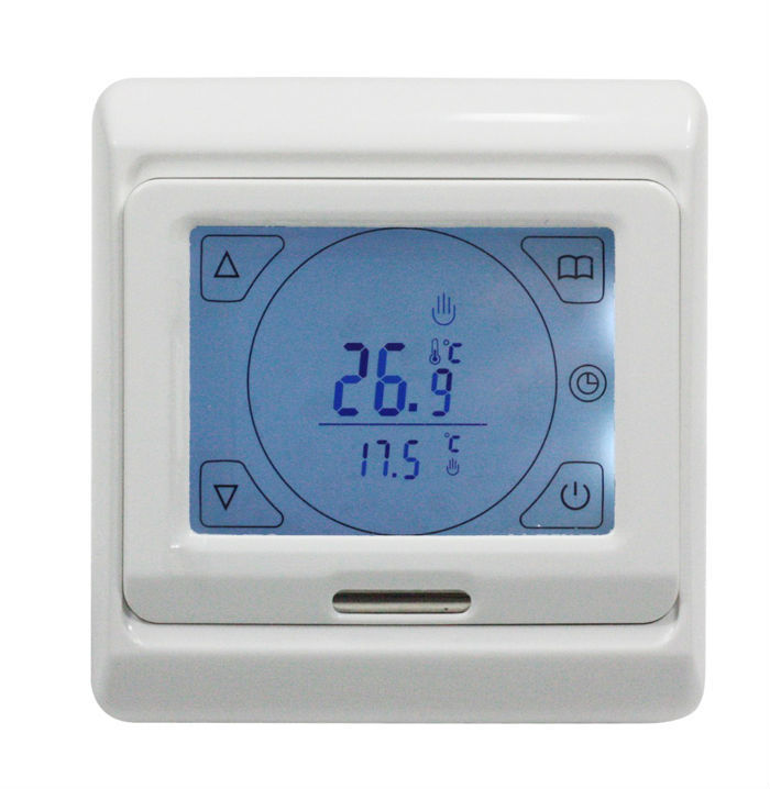 TF Series E91.716  220V/230V Touch Screen Programming Thermostat with LCD 16A Power consumption 2W Setting range 5-90 degree C  <br><br>Aliexpress