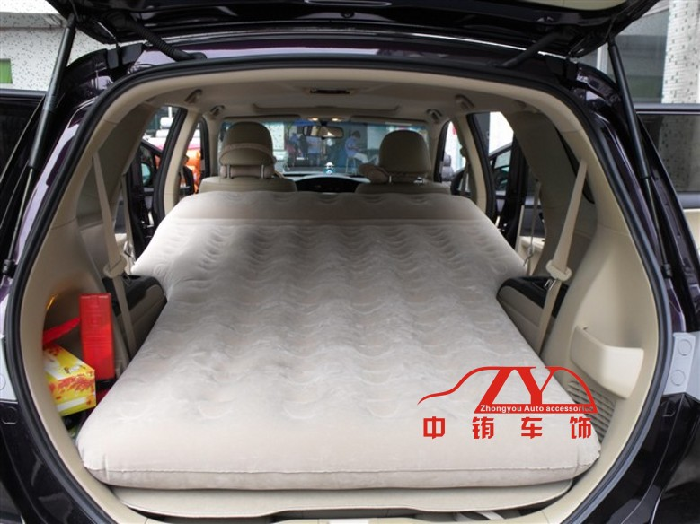 09 voiture tapis de coffre de voyage matelas gonflable coussin fournitures automobiles. Black Bedroom Furniture Sets. Home Design Ideas