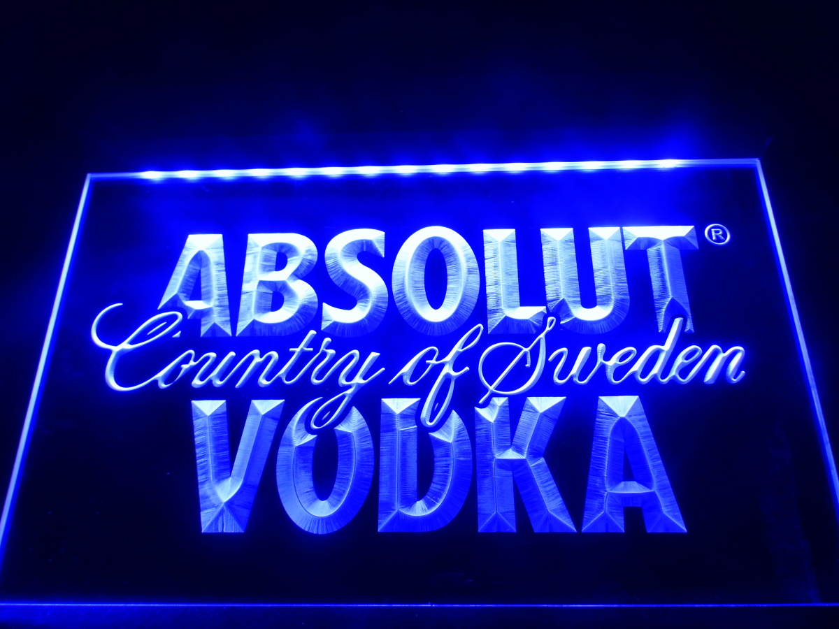 LE025- Absolut Vodka Country of Sweden Beer Neon Bar Light Sign home decor crafts(China (Mainland))