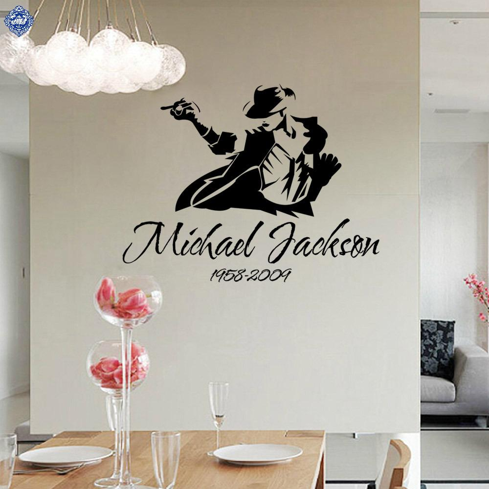 The Memory Of Michael Jackson Wall Sticker Home Decor For Bedroom Concert Bar Ktv Muursticker